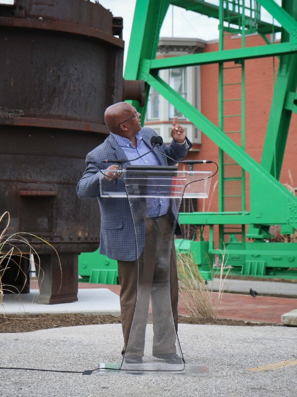 Baltimore Mayor Jack Young at the Baltimore Museum of Industry, October 2019.