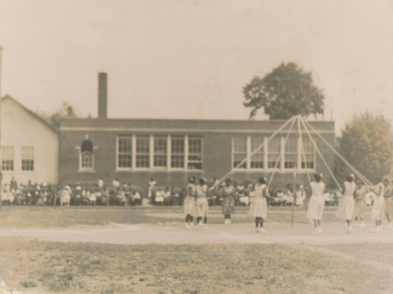 Students playing outside of the Havre de Grace Colored School. Photo from the Havre de Grace Colored School.