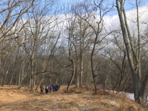 First day hikers in the Patapsco Valley. Photo from Maryland Department of Natural Resources.