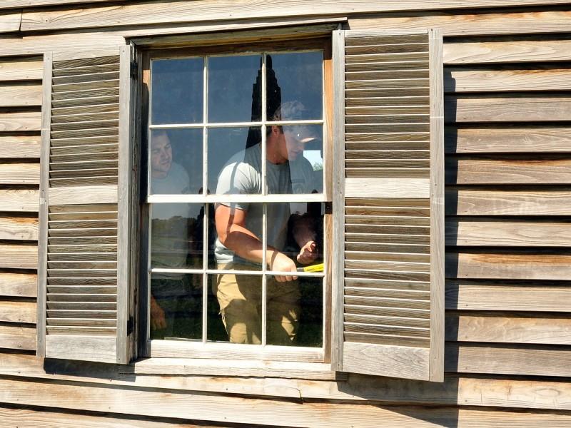 Historic Preservation Training Center apprentices at Manassas National Battlefield Park.