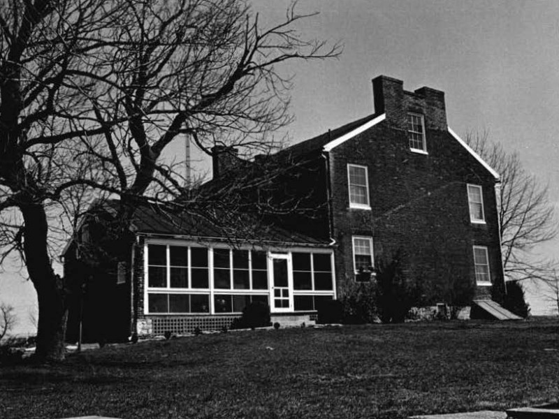 The historic Stouffer-Roney Farm in Hagerstown, Maryland is slated for demolition. Photo from Maryland HIstorical Trust, ca. 1970.