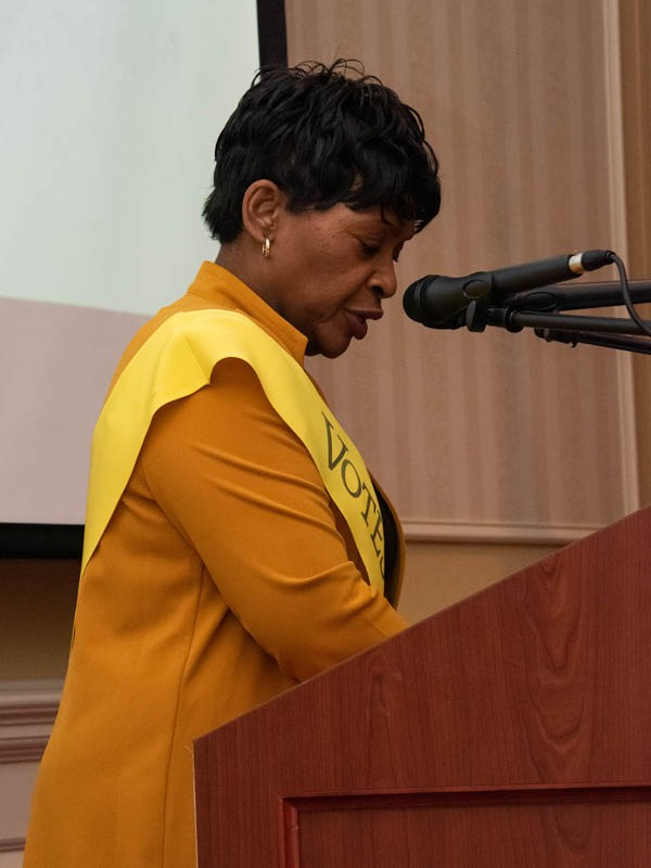 Speaker of the House, Adrienne Jones, Annapolis, January 2020.