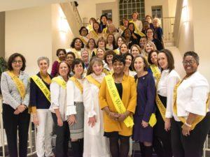Speaker of the House, Andrien Jones, with members of the Maryland Women's Legislative Caucus, January, 2020.