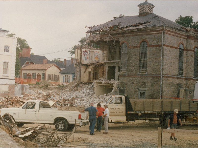 Demolition of the Dorchester County Jail.