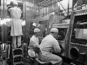 Scientists at Fort Detrick, ca. 1946. Photo from US Army.
