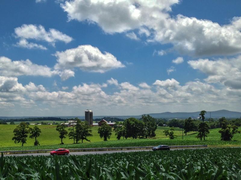 Frederick County farmland near Jefferson, Maryland. Flickr user Mike Procario.
