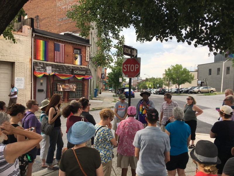 LGBTQ history walking tour by Baltimore Heritage and Preservation Maryland, 2019.