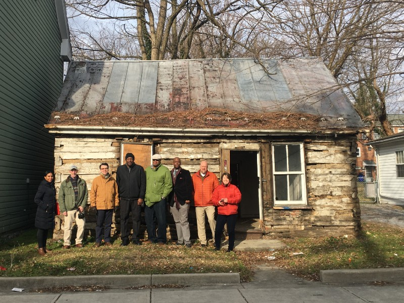 Project team at Preservation Maryland revolving fund project in Hagerstown, MD, 2020.