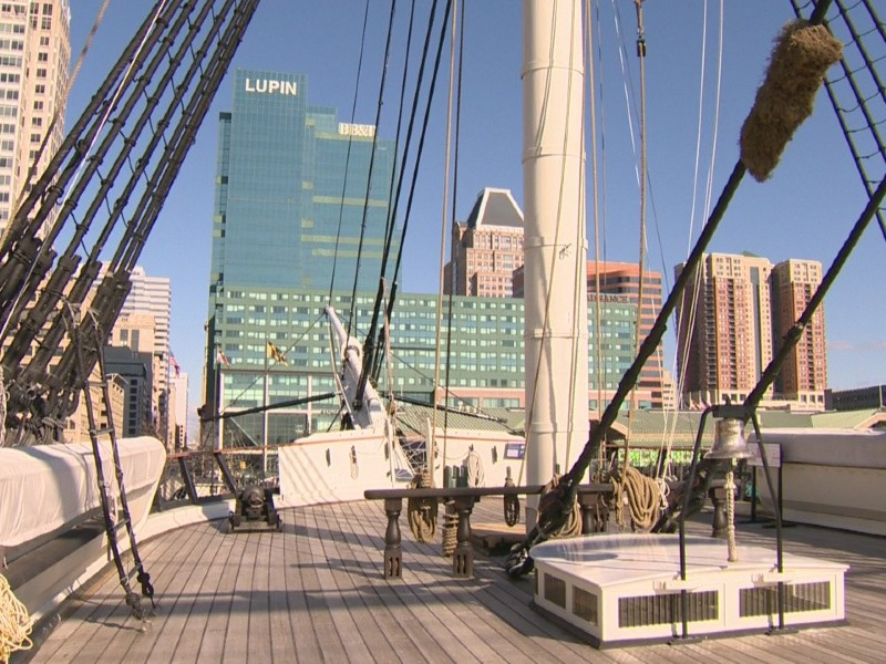 View from the top deck of the USS Constellation. Image from WJZ 13.