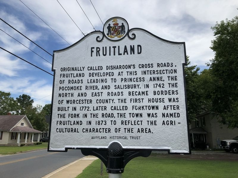 "Image of Historic Marker reading ""Fruitland"""