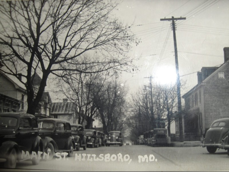 Historic image of Main Street in Hillsboro, MD. Photo from Town of Hillsboro, MD.