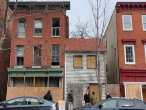 Malachi Mills in Southwest Baltimore, recently stabilized, February 2020.