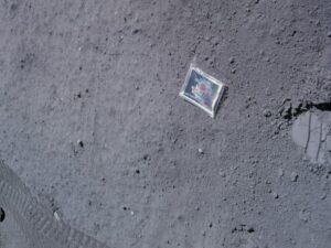 Astronaut Charlie Duke's family photograph on the Moon.