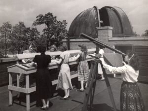 Historic image of the Williams Observatory at Hood College, Maryland.