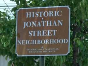 jonathan-street-hagerstown-historic-brown-sign