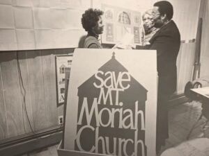 Members of the Maryland Commission on African American History and Culture's campaign to save Mt. Moriah African Methodist Episcopal Church, now the Banneker-Douglass Museum.