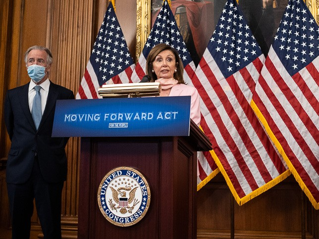 Nancy Pelosi, Speaker of the House, supported Moving Forward Act. Photo from E & E News.