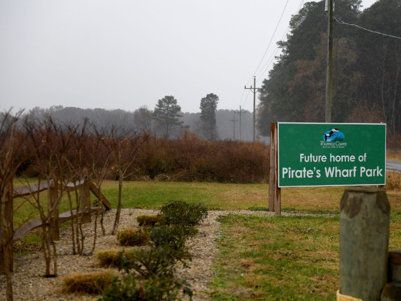 Location of the planned new Pirate's Wharf Heritage Trail funded by the Maryland Heritage Area Authority.