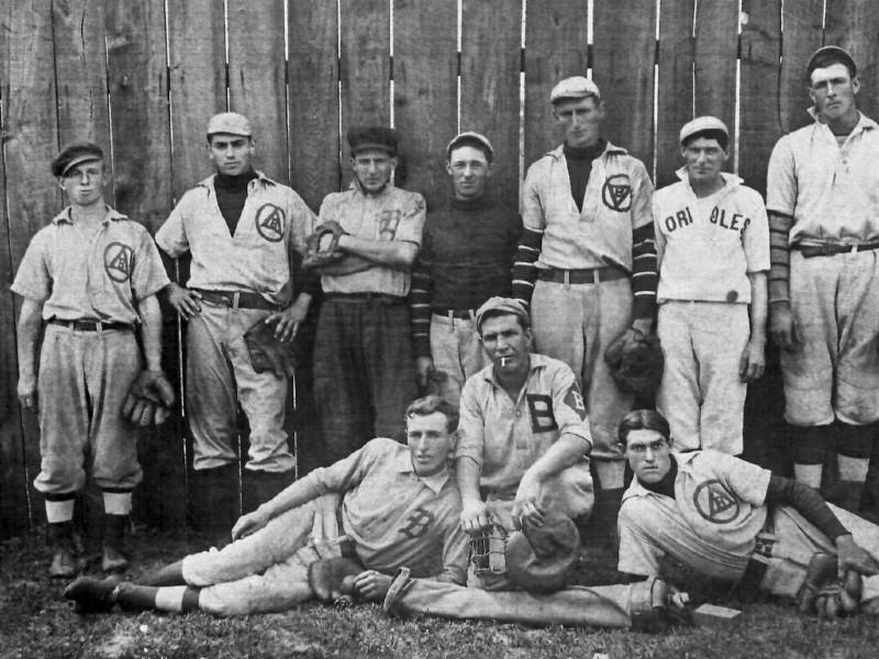 Brunswick, Maryland's baseball team, 1892. Photo from Brunswick Heritage Museum.