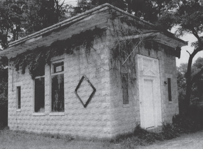 Before purchase and restoration by the Odenton Heritage Society, the Citizens Bank Building was abandoned, 1994.