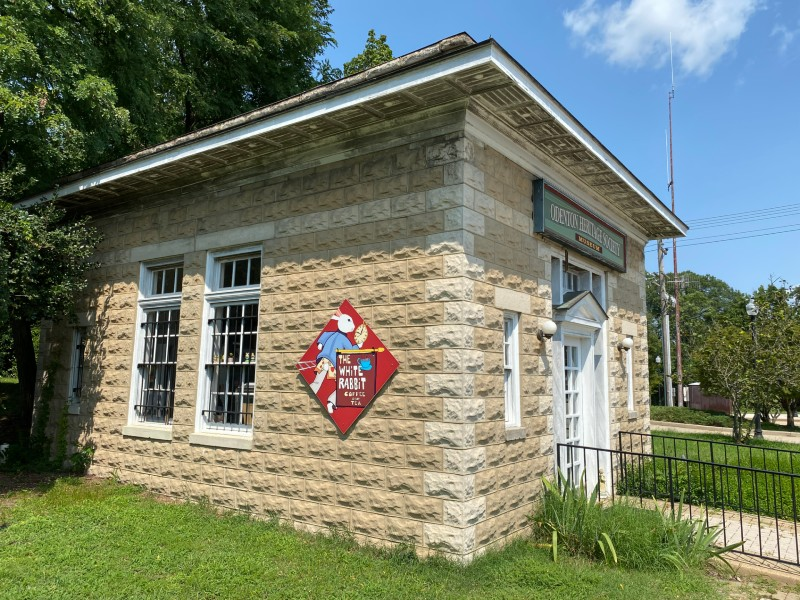Odenton Heritage Society mini-museum and cafe at the Odenton MARC stop, August 2020.