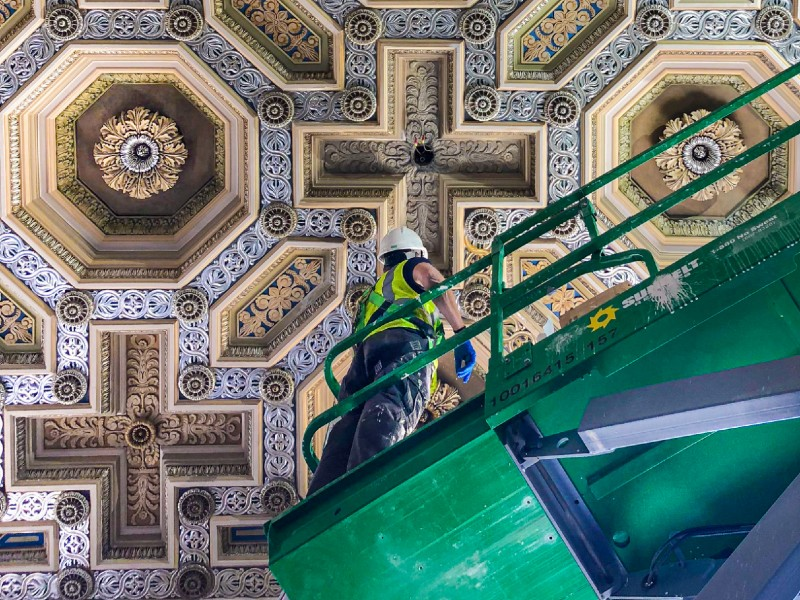 Photograph Image of ceiling in Enoch Pratt Free Library Central Branch in Baltimore City