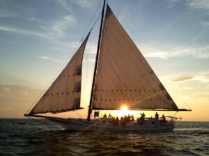 The Wilma Lee skipjack at sunset. Photo by Desirée Christa Ricker, 2014.