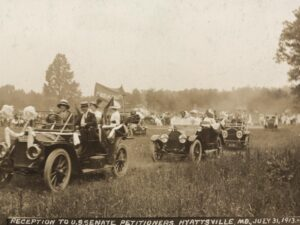vintage image showing womens-suffrage-hyattsville-md-1913