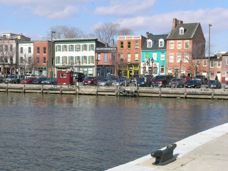 Fells Point, 2006. The Point in Fells (right), Tax Credit Project.