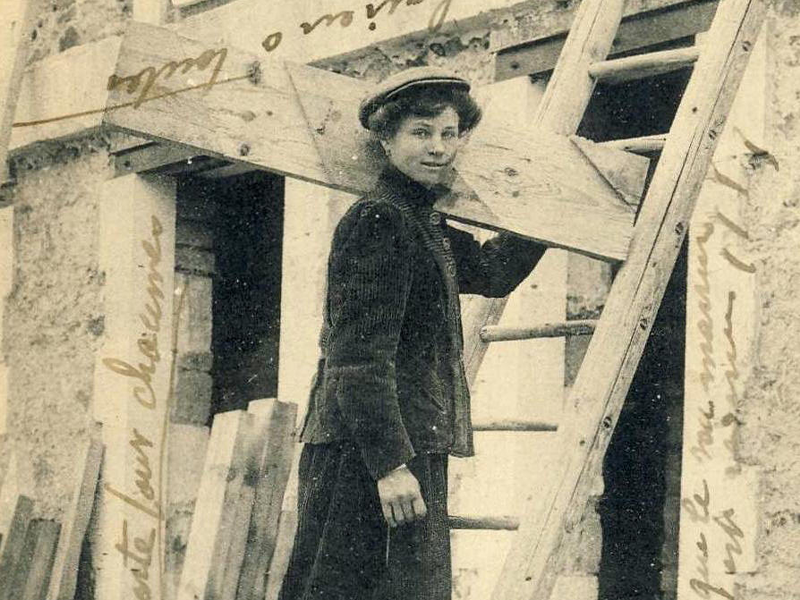 Juliette Caron, French carpenter, ca. 1882.