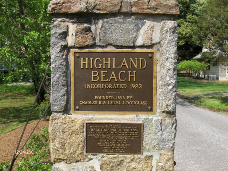 Highland Beach, founded by descendants of Frederick Douglas. Credit highlandbeachmd.org.
