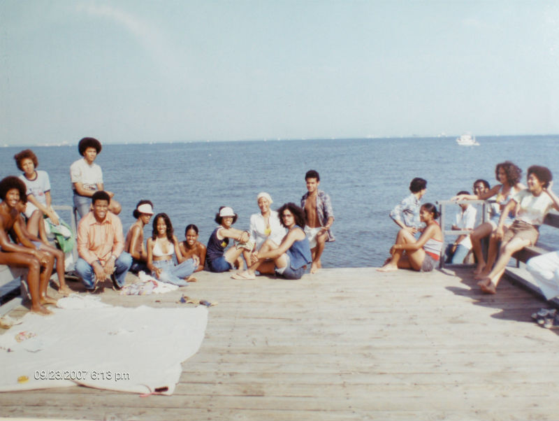 Beachgoers in the 70s. Photo from Highland Beach.