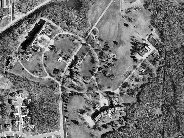 Aerial view of the Glenn Dale complex, 2009.