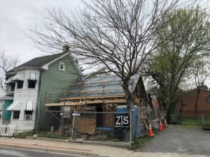 Rehabilitation of 417 N. Jonathan Street in-progress, April 2021.