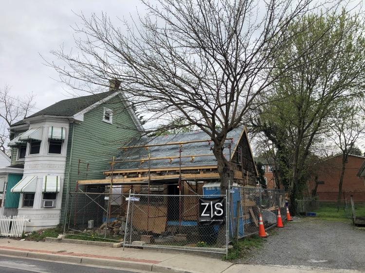 Rehabilitation of 417 N. Jonathan Street in-progress, April 2021.