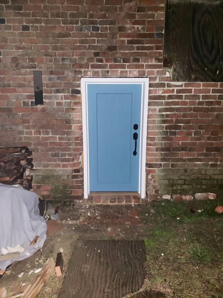 New Exterior Door Undergoing Restoration | Image Credit: Restore Handsell