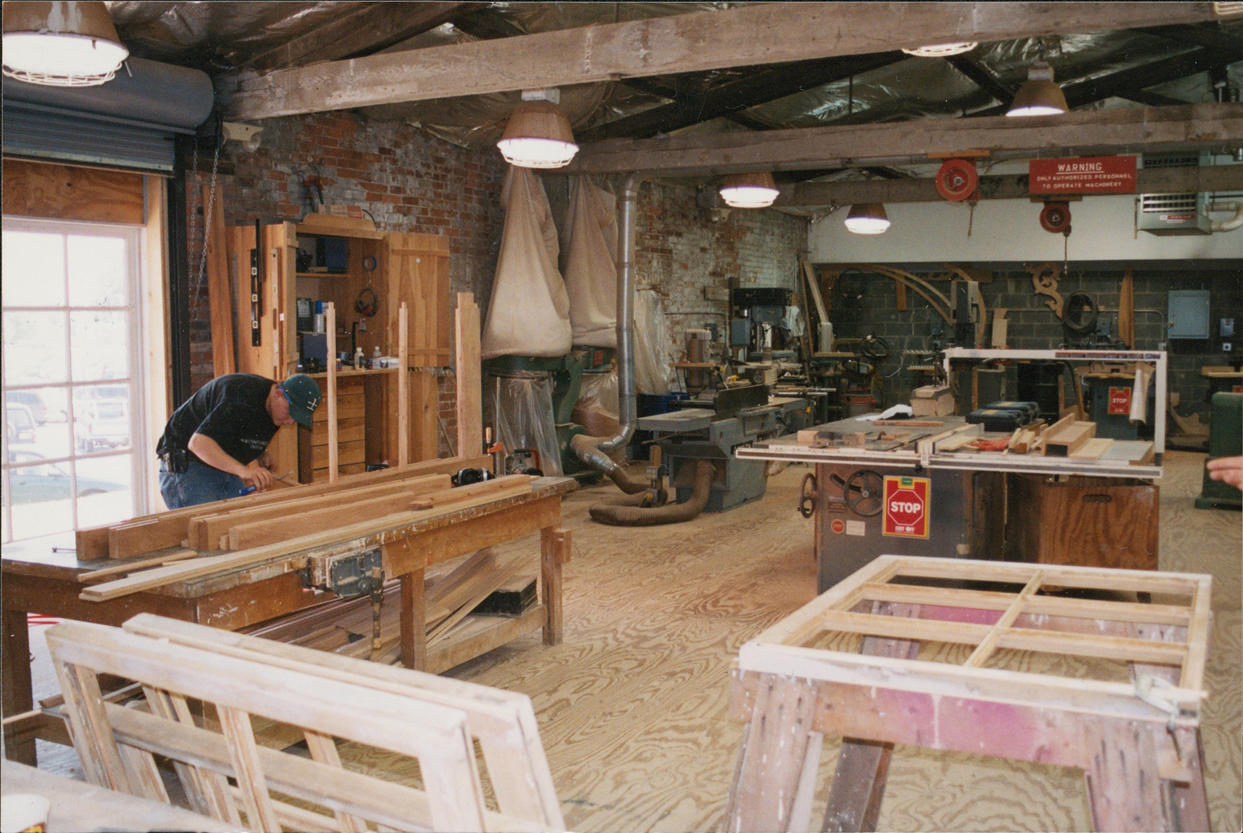 A view of preservation workers inside the National Park Service's Historic Preservation Training Center.