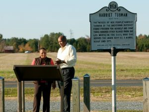 Harriet Tubman Historic Marker in Dorchester County