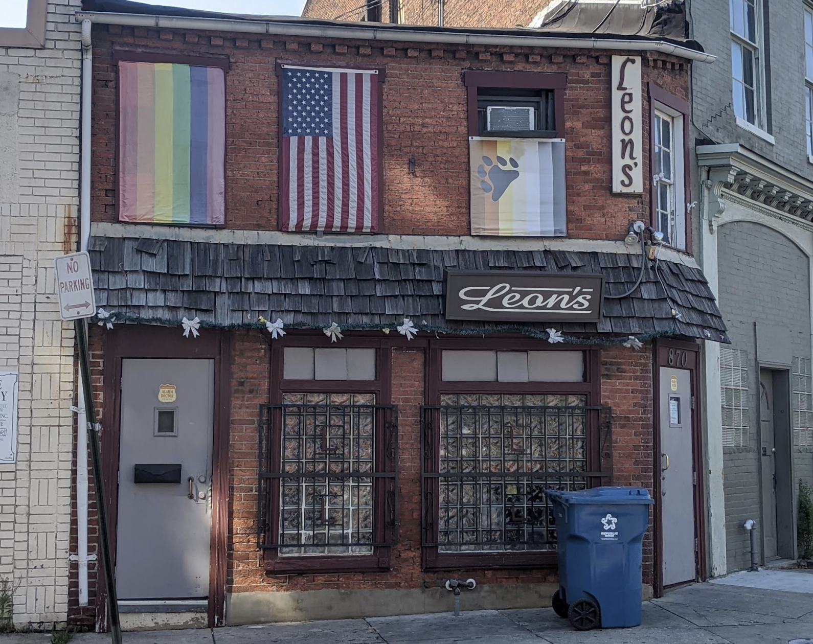 Leon's, 870 Park Ave in Baltimore Maryland is the oldest continually operating gay bar in Baltimore; it has been a gay bar since 1957.