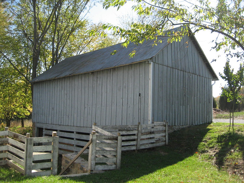The bank barn on Mt. Pleasant farm. The farm is now owned by the Howard County Conservancy.
