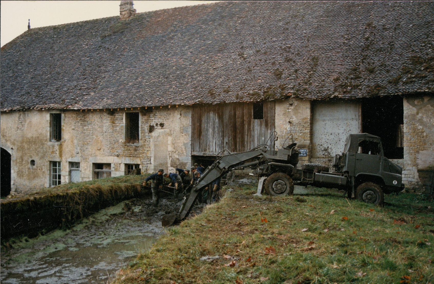 A view of a barn in France during a Preservation Maryland trip in 1987.