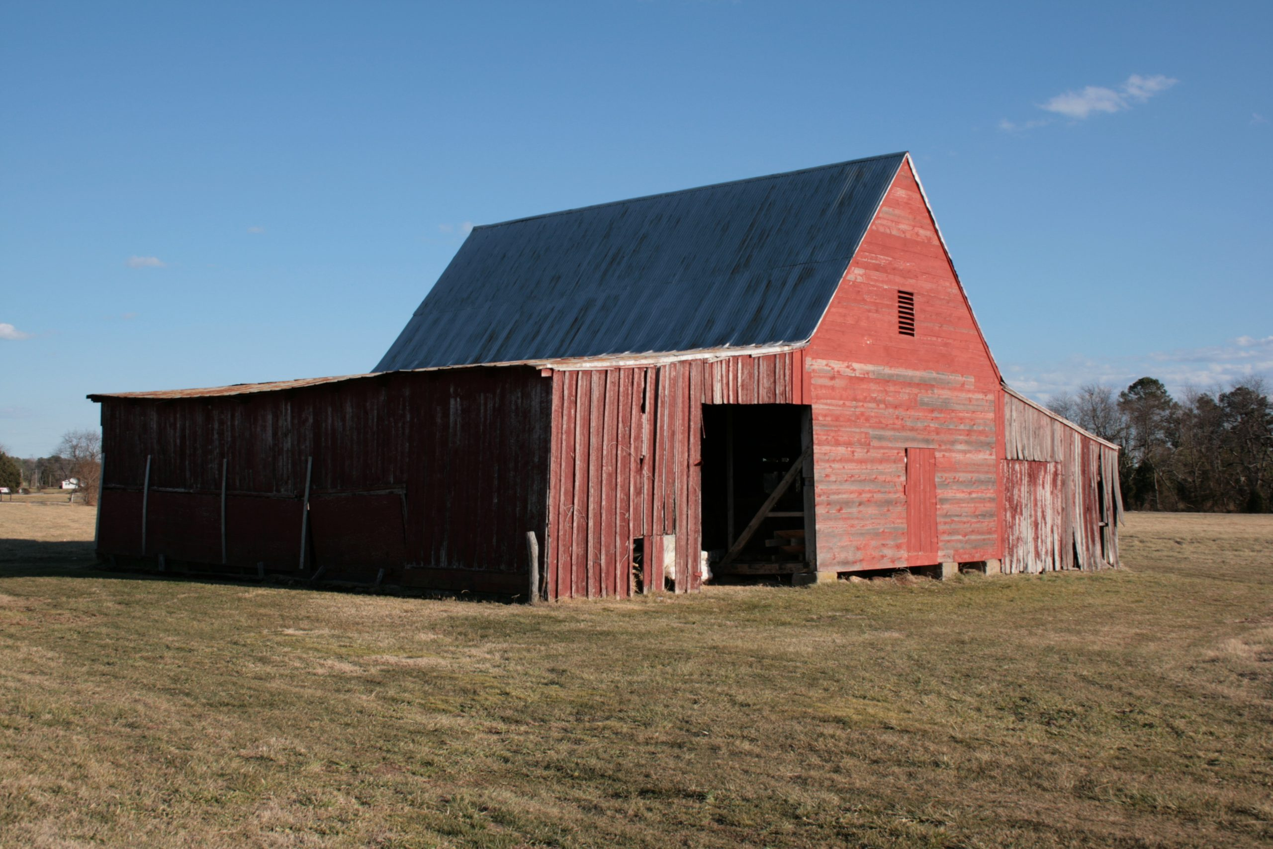 An image of a barn in Historic St. Mary's City, used for some time as a tobacco barn.