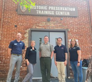 Partners from Conservation Legacy, The Campaign for Historic Trades and the National Parks Service at the Frederick Historic Preservation Training Center.
