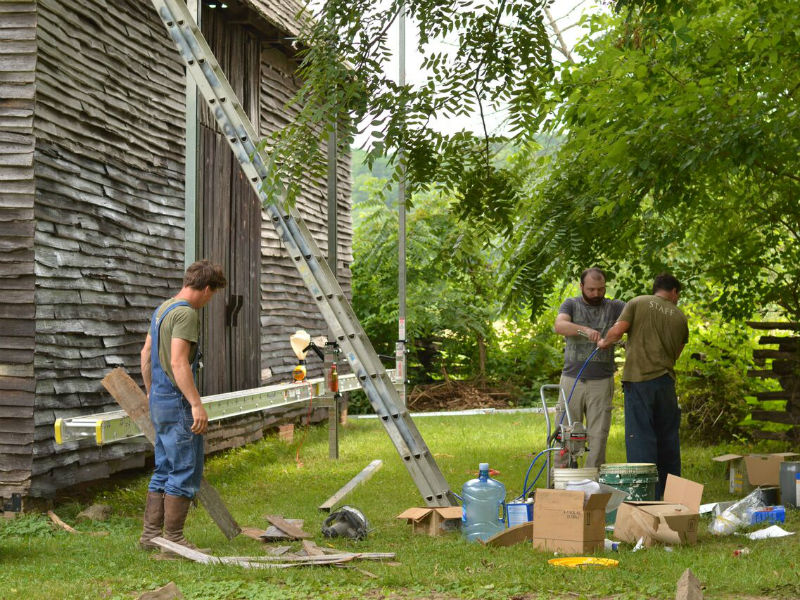 The National Colonial Farm in Southern Maryland is a living history museum that interpret Colonial-era farm life including a tobacco barn dating from the 18th century.